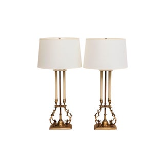 Tommi Parzinger for Stiffel Bouillotte Table Lamps, A Pair For Sale