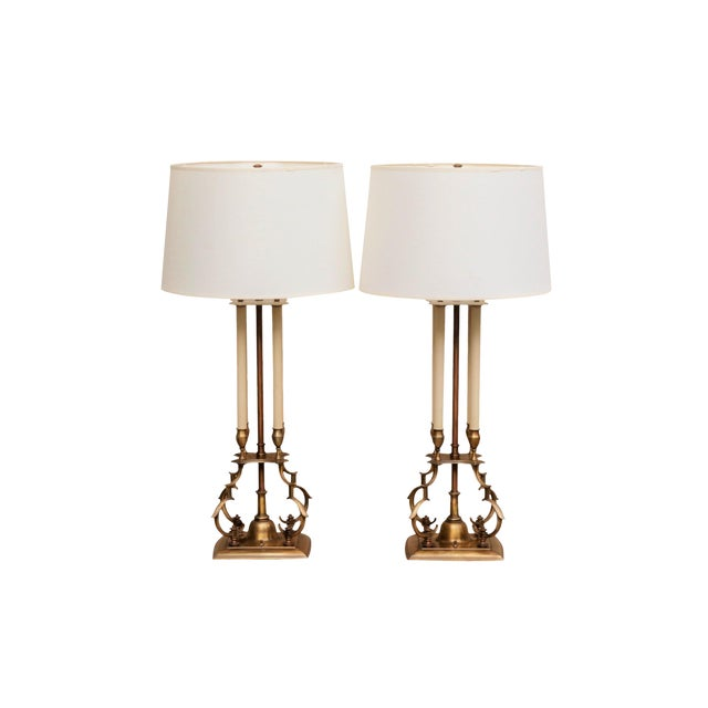Tommi Parzinger for Stiffel Bouillotte Table Lamps, A Pair - Image 1 of 8