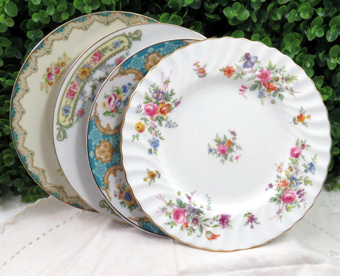 Vintage Mismatched China Dessert Plates - Set of 4 - Image 7 of 8  sc 1 st  Chairish & Vintage Mismatched China Dessert Plates - Set of 4 | Chairish