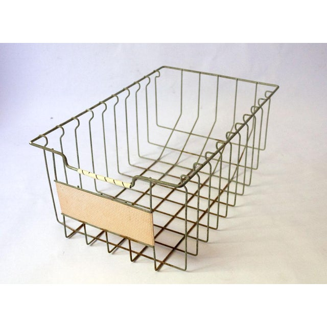 Vintage Mid Century Wire Basket For Sale - Image 13 of 13