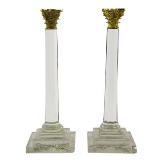 Modern William & Kate Candle Holders - A Pair