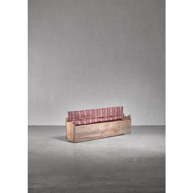 Folk Art 19th Century Pine Storage Bench, Sweden For Sale - Image 3 of 5
