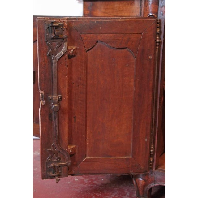Country French Louis XV Walnut Serpentine Buffet For Sale - Image 9 of 10