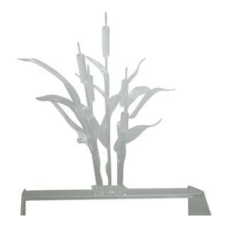 """""""Cat Tails"""" Mid-Century Lucite Sculpture signed Surace"""