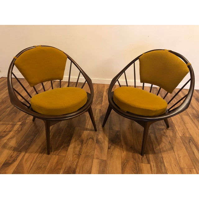 Mid-Century Modern Ib Kofod Larsen for Selig Mid-Century Peacock Lounge Chairs - a Pair For Sale - Image 3 of 13