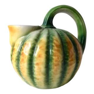 Italian Faience Melon Pitcher