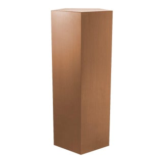 Brushed Copper Pedestal Column - L | Eichholtz Meissner For Sale