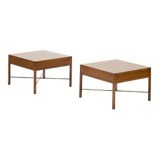 Vintage Walnut Side Tables - a Pair For Sale