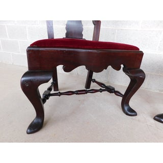 Feldenkreis Mahogany Queen Anne Style Oversize Accent Fireside Chairs - a Pair Preview