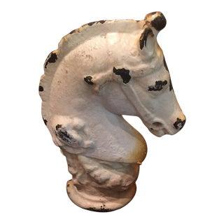 Antique Cast Iron Horse Head Door Stop For Sale