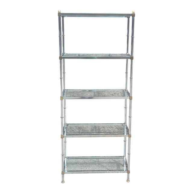 Jansen Chrome and Glass Bookshelf - Image 1 of 10