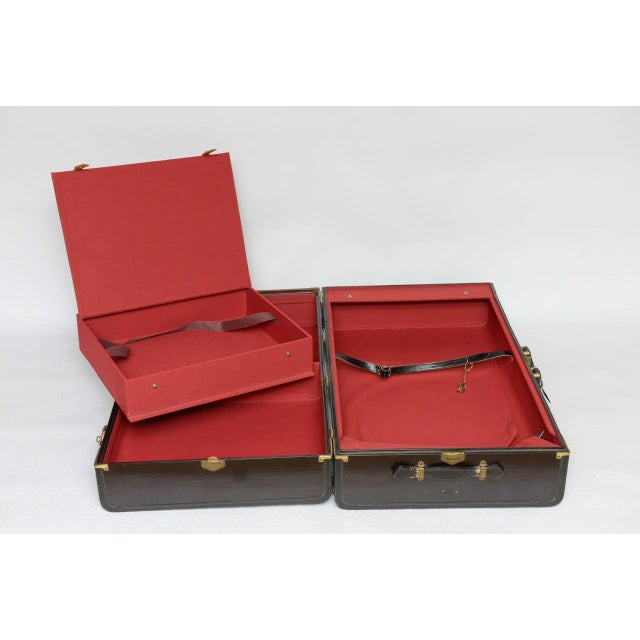 Gorgeous Pair of Vintage Italian Suitcases For Sale - Image 10 of 13