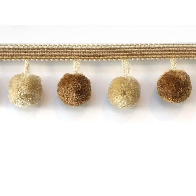 Shabby Chic Pompom Tassel Fringe - 6.75 Yards For Sale - Image 3 of 7