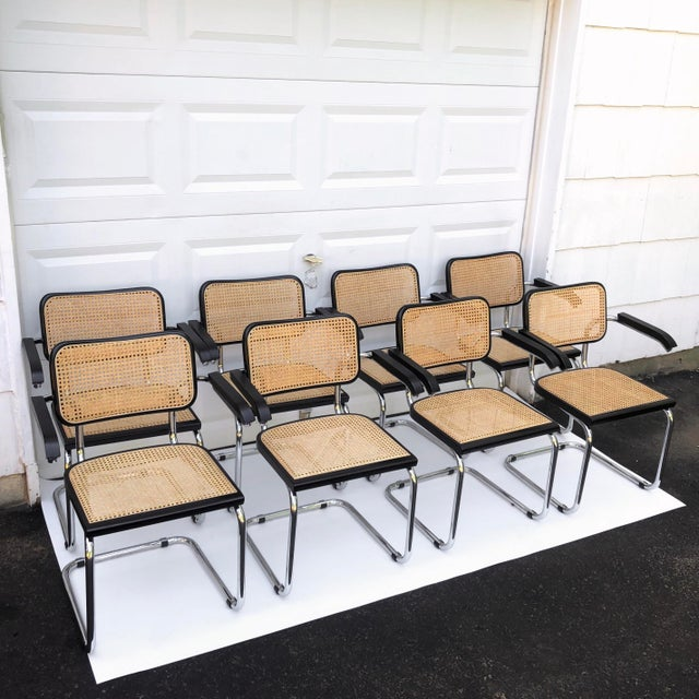 Vintage Modern Cesca Style Dining Chairs- Set of 8 For Sale - Image 13 of 13