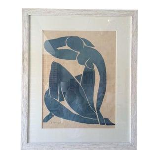 Vintage Henri Matisse Silkscreen Blue Series