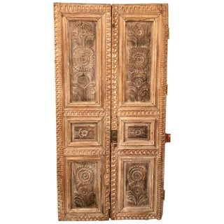 Pair of 19th Century Monumental Folk Art Doorways Mounted as Room Divider For Sale