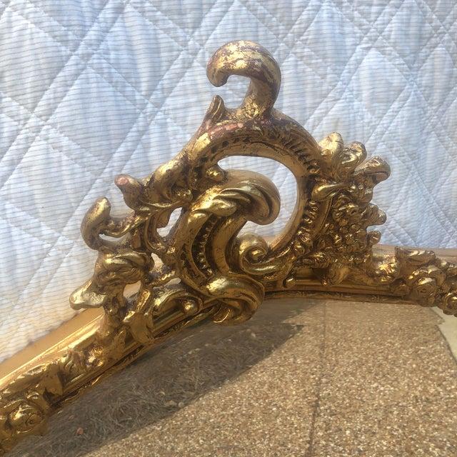 Antique Gold Gilt Wood Frame Beveled Mirror For Sale In Nashville - Image 6 of 12