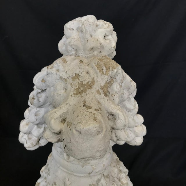 1920s Dog Lovers' Life Sized Stone French Poodle Sculpture Statue For Sale - Image 4 of 13