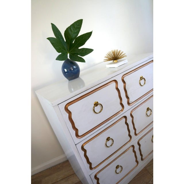 Brass Dorothy Draper Espana Style Chest Dresser For Sale - Image 7 of 8