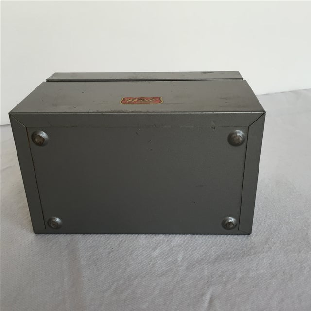 Mid-Century Metal Index Box - Image 7 of 7