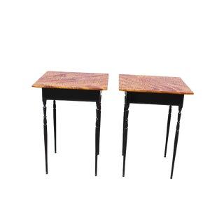 Custom Tiger Maple Tables - a Pair