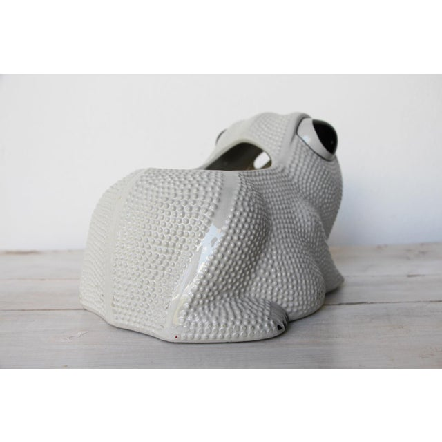 1970s 1970s Large Vintage Hobnail Frog Planter in the Style of Jean Roger For Sale - Image 5 of 13