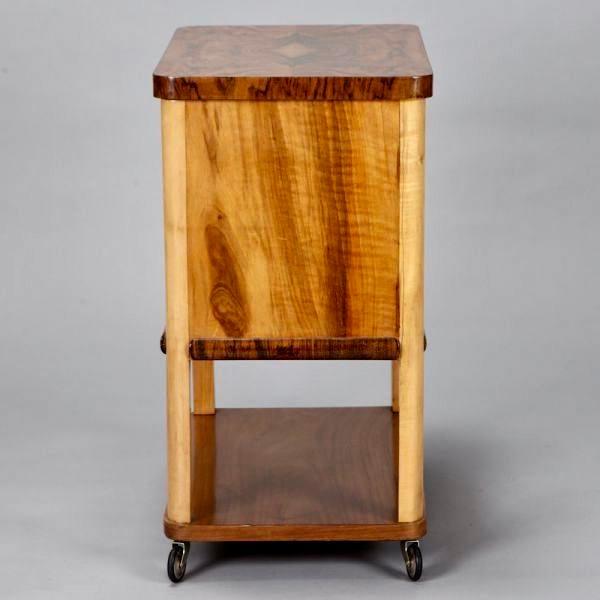 French Art Deco Liquor Cabinet Cart - Image 4 of 5