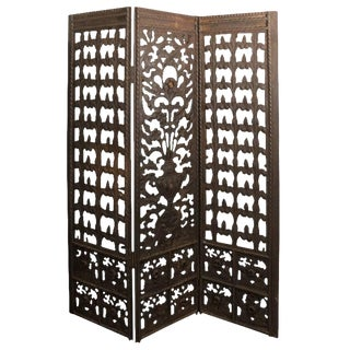 1920s Antique Addison Mizner Style Neoclassical Wrought Iron Screen For Sale