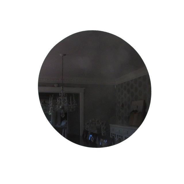 Modern Black Glass Mirror - Image 1 of 4