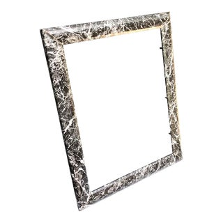 1980s 80s Black/White Marbled Resin Wall Frame For Sale