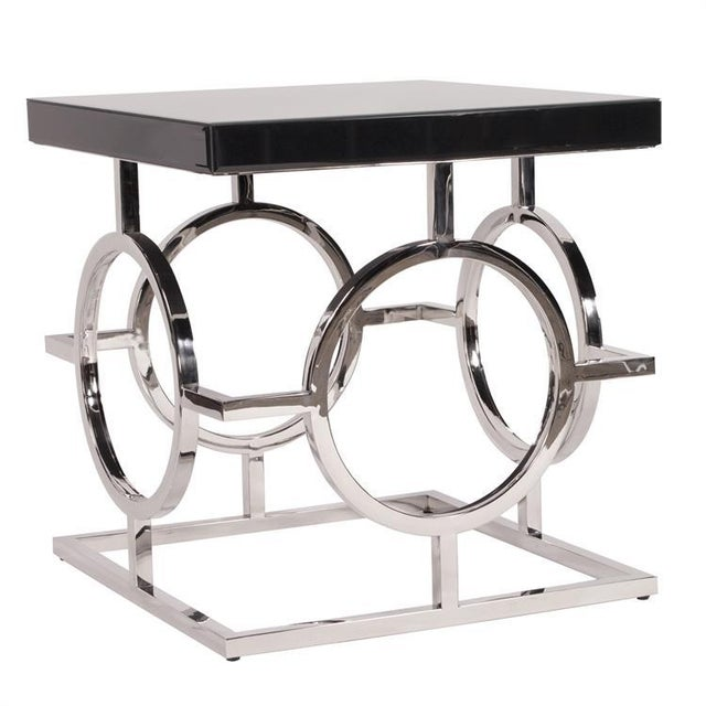 Contemporary Kenneth Ludwig Stainless Steel Circle Table For Sale - Image 3 of 4