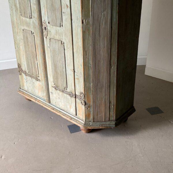 18th Century 18th Century Swedish Painted Petite Herb Cabinet For Sale - Image 5 of 10