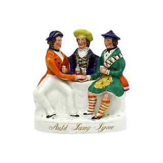 Rare 1870s Staffordshire Auld Lang Syne For Sale