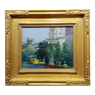 Ken Auster 1998 Los Angeles Streets - Oil Painting For Sale