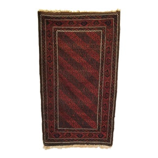 Antique Persian Baluch Rug 3'2 X 5'6 For Sale