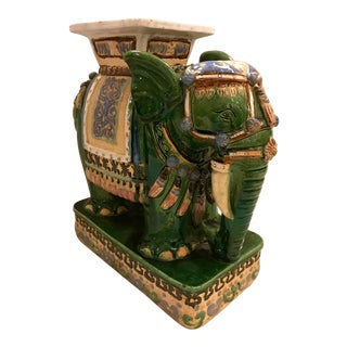 Green Elephant Garden Stool For Sale