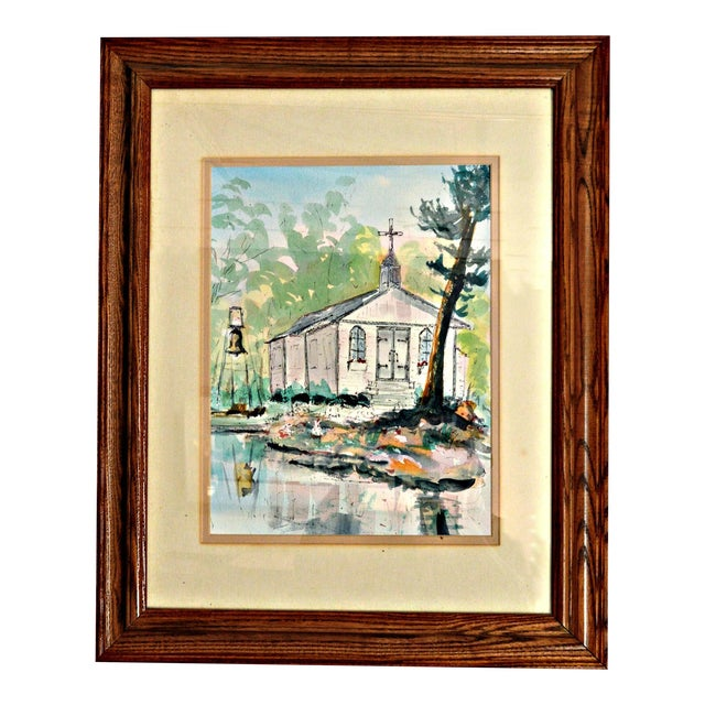 """""""St Peter on the Rock"""" Painting by Richard Hayward For Sale"""