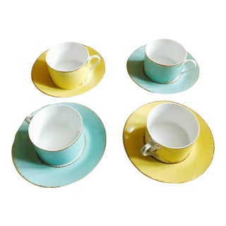 "Christian LaCroix Paris ""Follement"" Coffee Tea Set, France - Set of 4 For Sale"