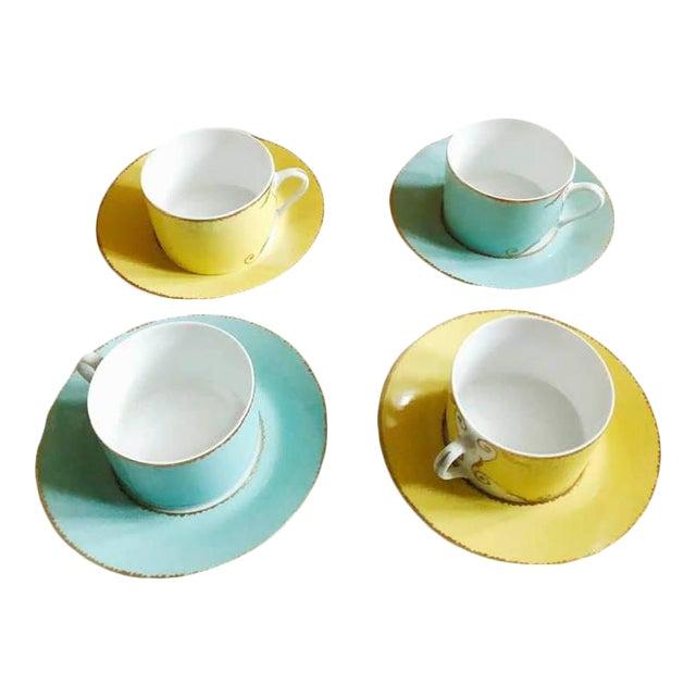 """Christian LaCroix Paris """"Follement"""" Coffee Tea Set, France - Set of 4 For Sale"""