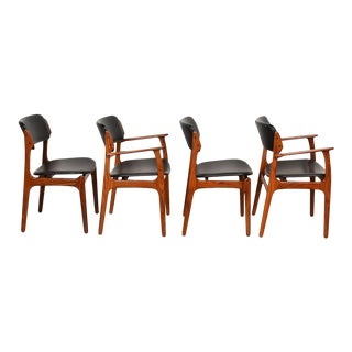 Set of 4 Danish Rosewood Erik Buch Dining Chairs For Sale