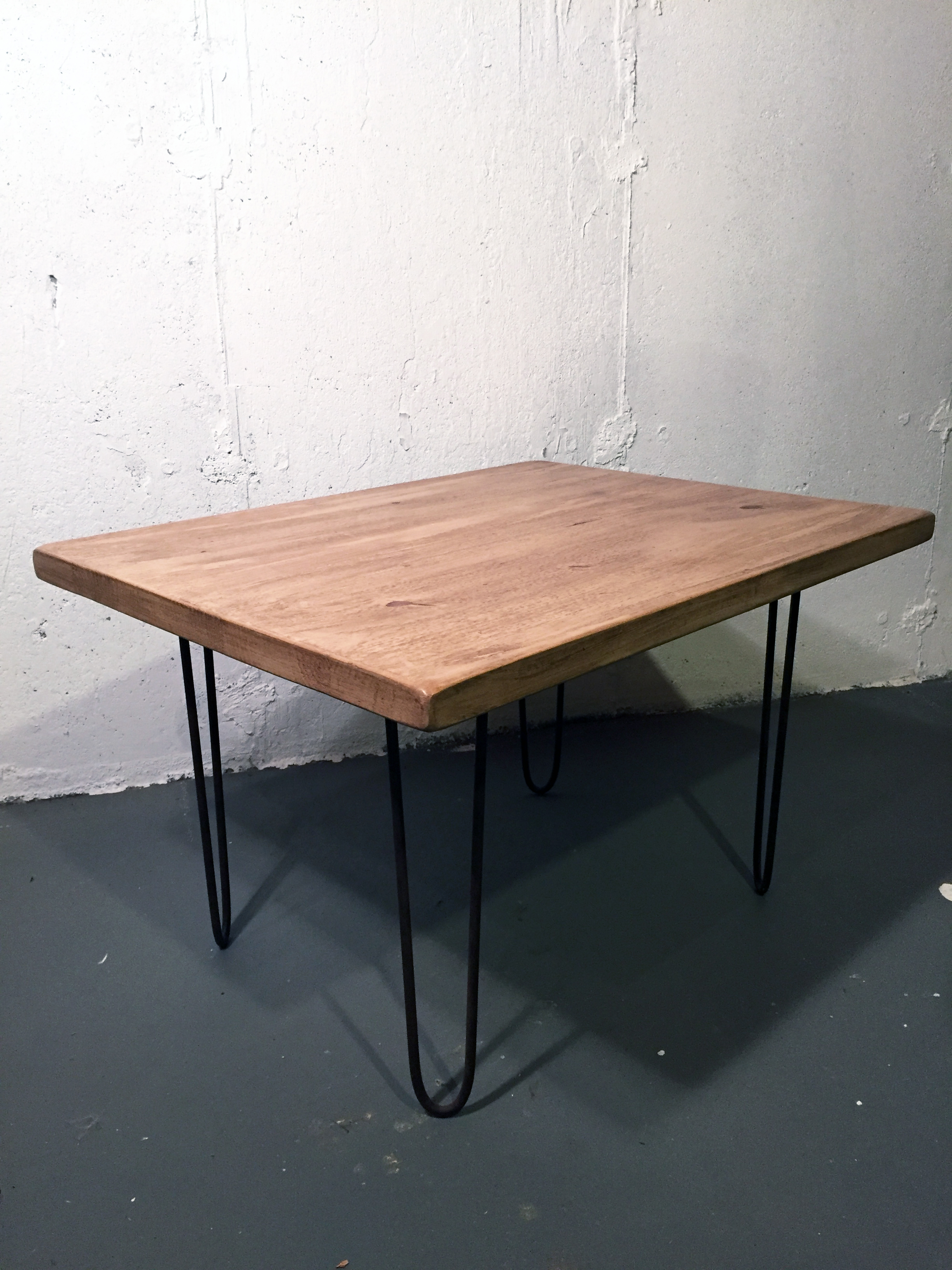 Repurposed Wood Coffee Table With Hairpin Legs   Image 6 Of 7