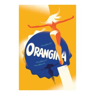 Minimalist Danish Modern Poster, Orangina For Sale