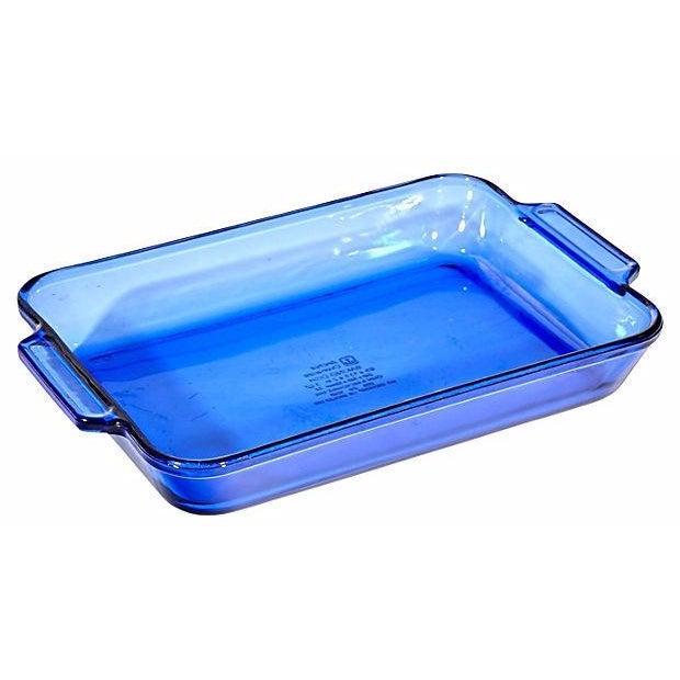 Cobalt Glass Baking Dish - Image 1 of 3