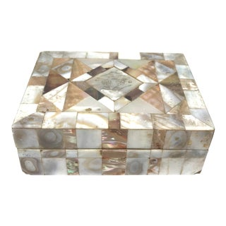 Vintage Mid-Century Mother of Pearl Box For Sale