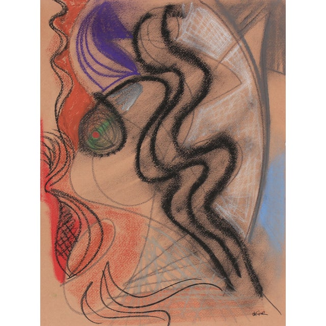 Surrealist Pastel Abstract by M. di Cosola - Image 1 of 2