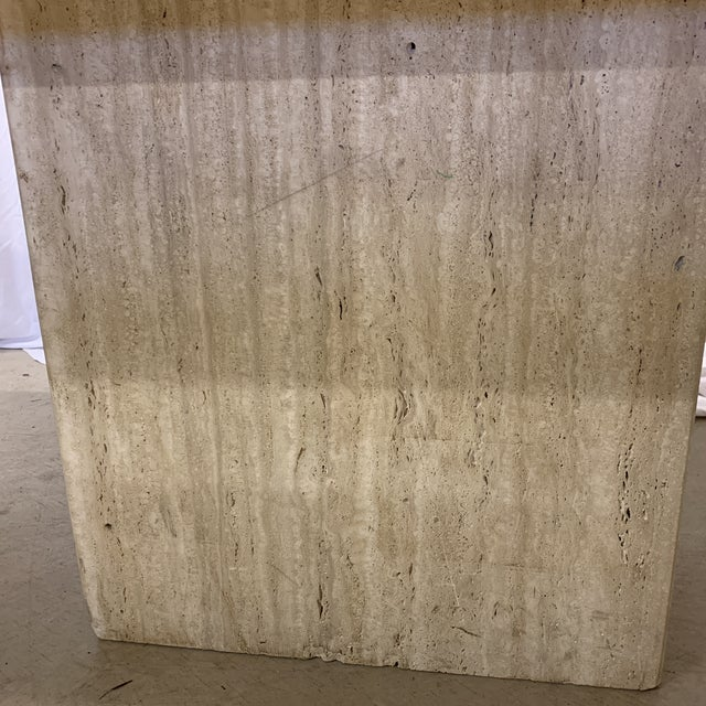 Italian Travertine Marble Dining Table For Sale In Richmond - Image 6 of 13