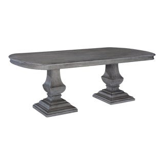 Pastry Table Tuscan Italian Weathered Gray Solid For Sale