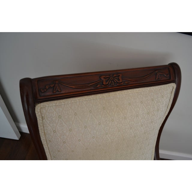 Traditional Antique Victorian Mahogany Rocking Chair For Sale - Image 3 of 8