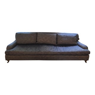 Transitional Restoration Hardware Belgian Classic Roll Arm Sofa For Sale