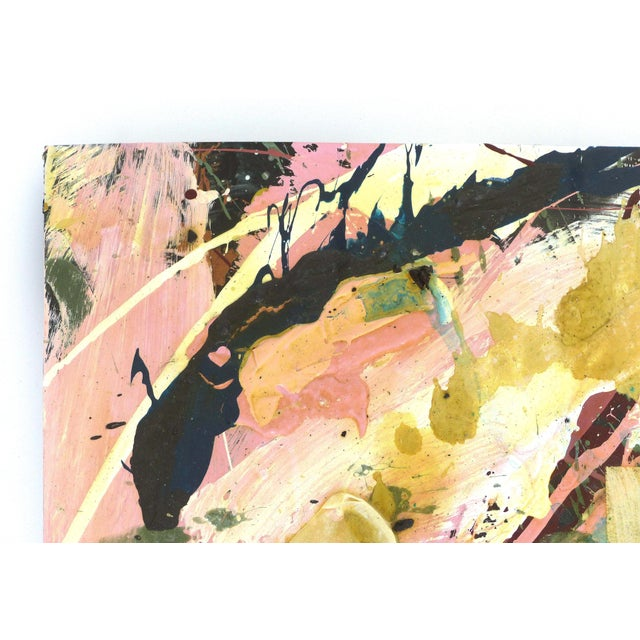 Abstract Abstract Mixed-Media Painting by William Phelps Montgomery 'Stitch in Time' For Sale - Image 3 of 10